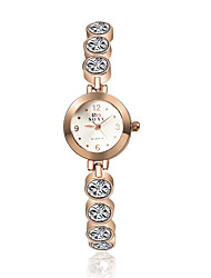 cheap -Women's Bracelet Watch Quartz Casual Watch Alloy Band Analog Charm Fashion Elegant Gold - Golden