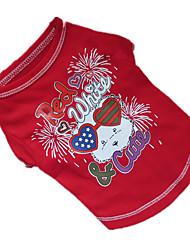preiswerte -Hund T-shirt Hundekleidung Atmungsaktiv Purpur Rot Blau Kostüm Für Haustiere