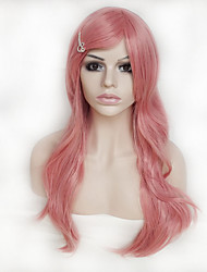 cheap -Color Cosplay Wigs Pink 26 Inch High Temperature Curly Hair Silk Wig