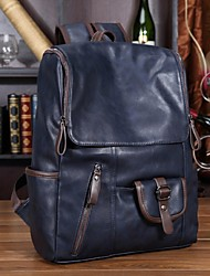 cheap -Men Bags PU School Bag Zipper for Casual Fall Black Blue