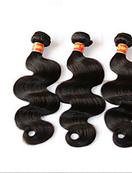 cheap -3 Bundles Brazilian Virgin Hair Body Wave With Closure Unprocessed Human Hair Weave And Free/Middle/3 Part Lace Closures