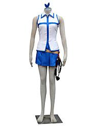 Ispirato da Fairy Tail Lucy Heartfilia Anime Costumi Cosplay Abiti Cosplay Monocolore Senza maniche Top Gonna Per Donna