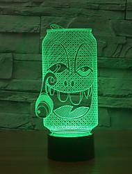 la bottiglia di effetto 3d usb visivo LED Night Light luce di notte cambia colore