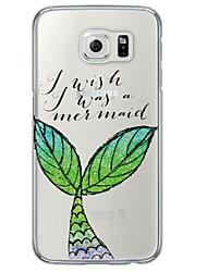 Недорогие -Кейс для Назначение SSamsung Galaxy Samsung Galaxy S7 Edge Прозрачный / С узором Кейс на заднюю панель Слова / выражения Мягкий ТПУ для S7 edge / S7 / S6 edge plus