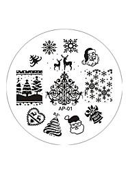 1pcs  Snowflake Nail Printing Plate