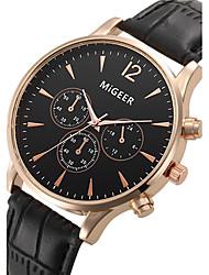 Недорогие -Муж. Наручные часы Нарядные часы Модные часы Кварцевый / Повседневные часы Кожа Группа Cool Черный