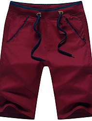 cheap -Men's Cotton Slim Straight Loose Shorts Chinos Pants - Solid Colored