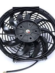 """dc la 7a 12 """""""" 10 lames d'air auto voiture climatiseur ventilateur de refroidissement noir"""