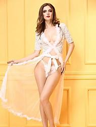 Robe de chambre Ultra Sexy Uniformes & Tenues Chinoises Costumes Nuisette & Culottes Chemises & Blouses Jarretière Lingerie en Dentelle