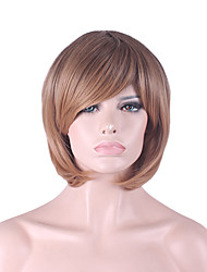 cheap -Best-selling Europe And The United States COS Wig Light Brown Gradient Partial Points BOBO 12 Inch