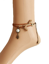 cheap -Pearl Anklet / Body Chain - Women's Brown Fashion Four Leaf Clover Anklet For Daily / Casual