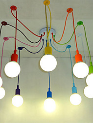 cheap -Modern Pendant Lights  DIY Art Pendant Lamp Lighting Multi-color Silicone E27 Bulb Holder Lamps Home Decoration