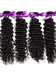 Malaysian Deep Wave Hair Weaves 1pcs 100g/pcs Malaysian Virgin Hair Weft Human Hair Extensions Weft 6A