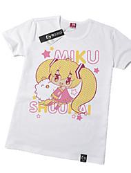 Ispirato da Vocaloid Hatsune Miku Anime Costumi Cosplay Cosplay Tops / Bottoms Con stampe Manica corta T-shirt Per Unisex