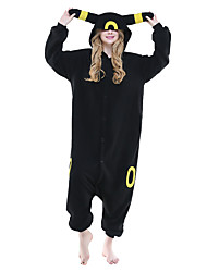 cheap -Kigurumi Pajamas Pika Pika Onesie Pajamas Costume Polar Fleece Black Cosplay For Adults' Animal Sleepwear Cartoon Halloween Festival /