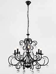Chandelier ,  Country Painting Feature for Crystal Metal Dining Room Entry Hallway