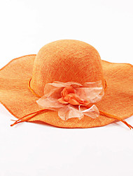 cheap -Women's Holiday Linen Sun Hat - Solid Colored