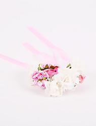Fleurs de mariage Noué à la main Roses Petit bouquet de fleurs au poignet Mariage La Fête / soirée Polyester Mousseline Mousse