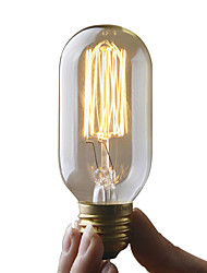 Недорогие -UMEI™ 1шт 40W E27 E26 / E27 T45 2300k Лампа накаливания Vintage Эдисон лампочка 220-240V