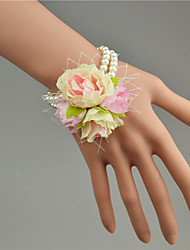 """cheap -Wedding Flowers Wrist Corsages Wedding Tulle / Bead / Lace 1.18""""(Approx.3cm)"""