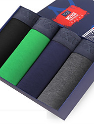 New Fashion Men's Cotton Underwear Health 4 Colour(4 Pcs/Box)
