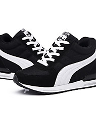 cheap -Women's Shoes Tulle Spring / Fall Comfort Sneakers Wedge Heel Lace-up / Split Joint Black / Blue