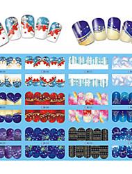 12 Designs Nail Art Beautiful Snowflake Image Nail DIY Beauty BN205-216