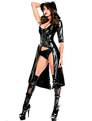 cheap -Women's  Faux Latex Catsuit Dance Fancy Dress With Hat Outfit