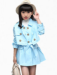 cheap -Girl's Blue Jeans,Cartoon Cotton Spring / Fall
