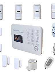 cheap -LCD Intelligent GSM Alarm System Wireless House Security SMS Alarma Kit for Home with Mini Door Window Sensor doorbell