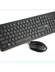 Wireless Bluetooth office Keyboard & Mouse Suit black  AAA Battery