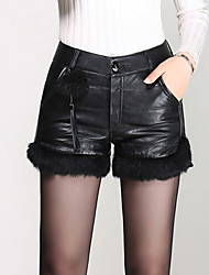 cheap -Women's Solid Black Shorts Pants,Sexy  Simple  Cute