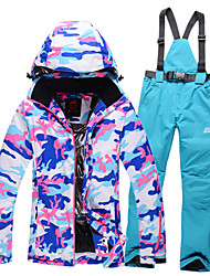 cheap -GQY® Women's Ski Jacket with Pants Waterproof Thermal / Warm Windproof Wearable Ski / Snowboard Winter Sports Polyester