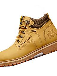 Men's Sneakers Spring / Fall Comfort Synthetic Casual Flat Heel  Black / Brown / Yellow / Tan Hiking