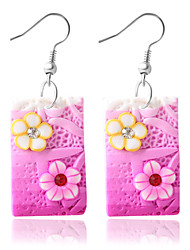 baratos -Mulheres Brincos Compridos - Fashion Roxo / Azul / Rosa claro Para Diário / Casual