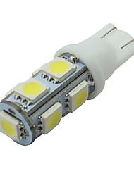 cheap -6 PCS White T10 9-SMD 5050 LED LICENSE PLATE Light bulb W5W 2825 194 192 168 12V