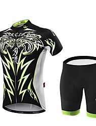 cheap -Malciklo Cycling Jersey with Shorts Men's Short Sleeves Bike Clothing Suits Quick Dry Front Zipper Wearable High Breathability (>15,001g)