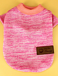 Chat Chien Tee-shirt Vêtements pour Chien Décontracté / Quotidien Solide Beige Bleu de minuit Gris Vert Rose Costume Pour les animaux