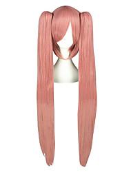 Perruques de Cosplay Vocaloid Luca Rose Long / Droite Anime Perruques de Cosplay 100 CM Fibre résistante à la chaleur Masculin / Féminin