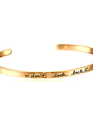 cheap -Men's / Women's Bangles / Cuff Bracelet - Basic, Open Bracelet Silver / Golden / Rose Gold For Christmas Gifts / Wedding / Party