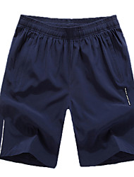 cheap -Men's Running Shorts - Gray, Green, Light Blue Sports Baggy Shorts Fitness, Gym, Workout Plus Size Activewear Quick Dry, Breathable, Reflective Strips Inelastic, Stretchy