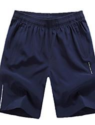 Hombre Shorts de running Secado rápido Transpirable Cómodo Reflectante Bandas Reflectantes Pantalones cortos holgados Prendas de abajo