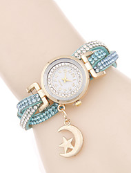 cheap -Women's Quartz Bracelet Watch / Hot Sale PU Band Casual Elegant Fashion Black White Red Pink Bronze
