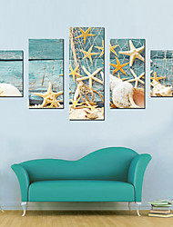 JAMMORY Canvas Set Landscape Modern,Five Panels Gallery Wrapped, Ready To Hang Vertical Print No Frame Fishing Tackle