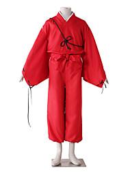 preiswerte -Inspiriert von InuYasha Kiba Inuzuka Anime Cosplay Kostüme Cosplay Kostüme einfarbig Langarm Hosen Gürtel Mehre Accessoires Kimono Jacke