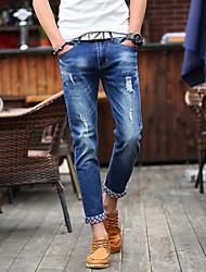 cheap -Men's Jeans Pants Solid Cotton All Seasons