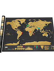 cheap -the World for Travelers Scratch Map Map Fun Paper Family Classic Children's Gift