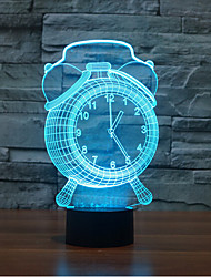 cheap -Clock Touch Dimming 3D LED Night Light 7Colorful Decoration Atmosphere Lamp Novelty Lighting Christmas Light