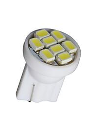 10x bianco cuneo t10 8SMD cruscotto cruscotto luce cruscotto tachimetro puro