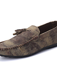 Men's Loafers & Slip-Ons Spring / Fall Comfort Leatherette Casual  Slip-on Black / Blue / Brown / Gray / Taupe Walking